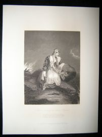 Pretty Lady 1867 Antique Print. Medona, Watching the return of Conrad